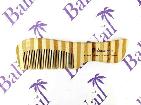 Scarlet Line, Гребень для волос (бамбук) с ручкой, 18 см, 93490