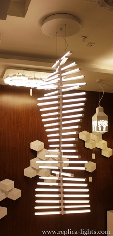 replica rhythm chandelier ( white + vertical  )