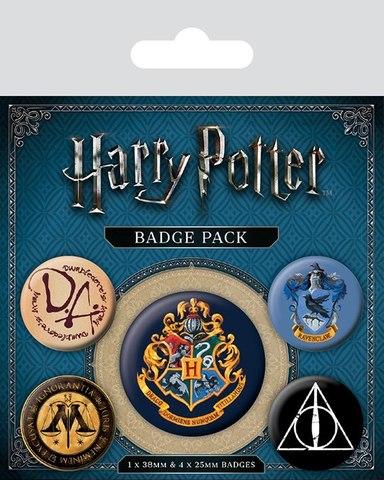 Набор значков Harry Potter