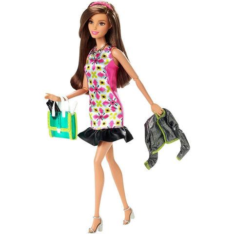 Кукла Барби Стильная Гламурная ночь - Style Glam Night Doll with Pink Retro Print Dress, Mattel