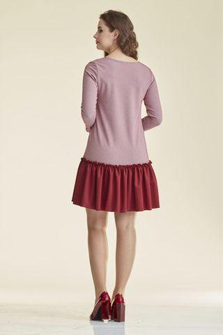 Платье 08914 бордовый