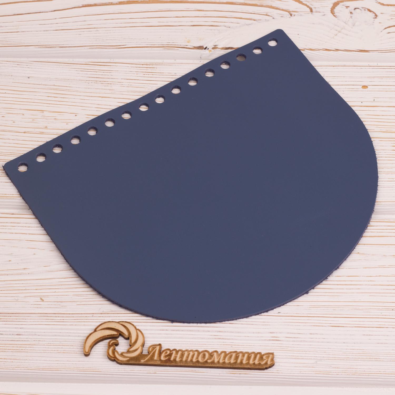 """Вся фурнитура Клапан для сумочки кожаный """"Темно-синий"""" 19*16 см IMG_4347.JPG"""