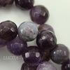 Бусина Аметист, шарик с огранкой, 10 мм, нить