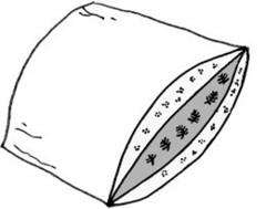Подушка пуховая 50х75 Kauffmann Naturpur трехкамерная