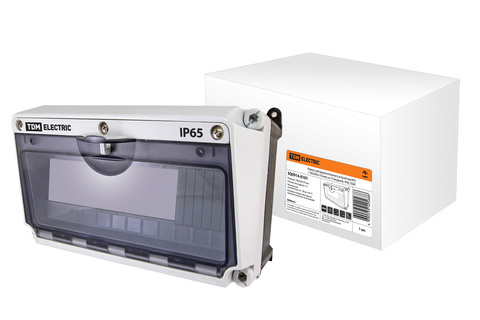 Корпус распределительного устройства КРУ, (190х265х170 мм), на 12 модулей, IP65, TDM