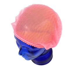 Шапочки одноразовые Шарлотта розовая, 100 шт/уп