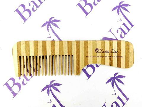 Scarlet Line, Гребень для волос (бамбук) с ручкой, 18,5 см, 93491