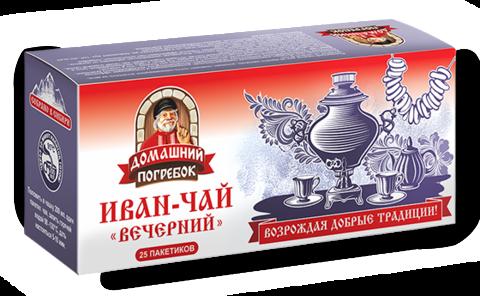 Чай травяной Домашний погребок Иван-чай Вечерний в пакетиках
