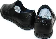 Модные мужские мокасины Luciano Bellini 107607 Black.