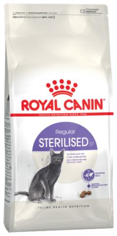 Royal Canin Sterilised 37 сухой корм для взрослых стерилизованных кошек и котов 4 кг