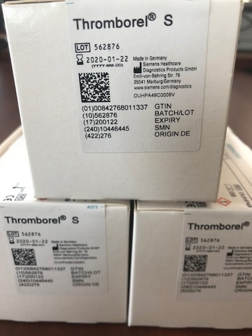 10446442/OUHP29 Тромборель S, 10х4 мл.-Thromborel S - Siemens Healthcare Diagnostics Products GmbH, Германия