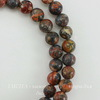 Бусина Яшма Шкура леопарда красная (прессов), шарик, 6 мм, нить (1 сорт (5))