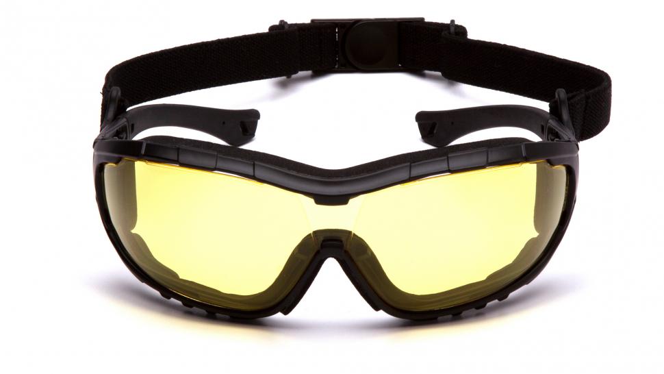 Очки баллистические тактические Pyramex V3T SB10330ST Anti-fog желтые 89%