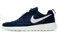Кроссовки Мужские Nike Roshe Run Material Dark Blue White