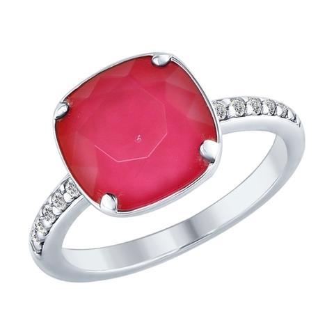 Кольцо из серебра с кристаллом Swarovski от SOKOLOV арт.94012432