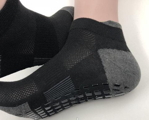 Нескользящие носки (р. 38-42, черные) - Усиленные, для йоги, батута, фитнеса