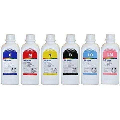 Чернила водные Ink-Mate EIM-801 для Epson L800 DYE CMYLmLcK комплект 6 цветов по 1000 мл.