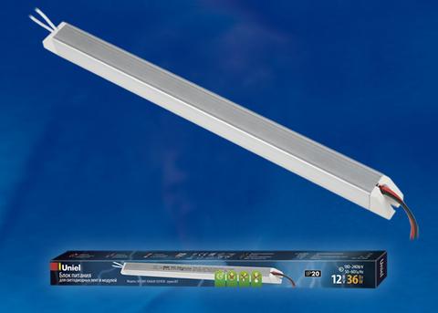 UET-VAT-036A20 12V IP20 Блок питания ультратонкий, 36Вт. Металлический корпус. TM Uniel