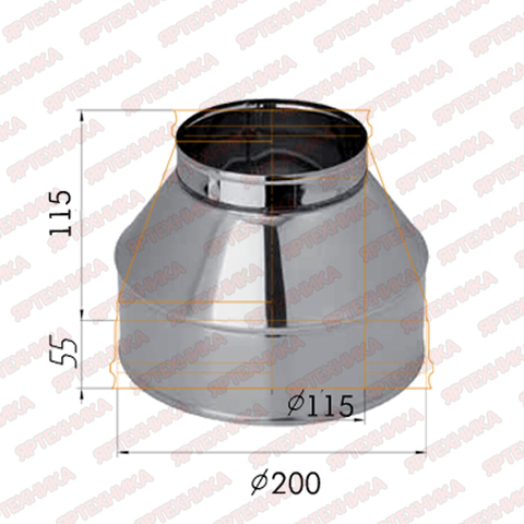 Конус d115х200мм (430/0,5 мм) Ferrum