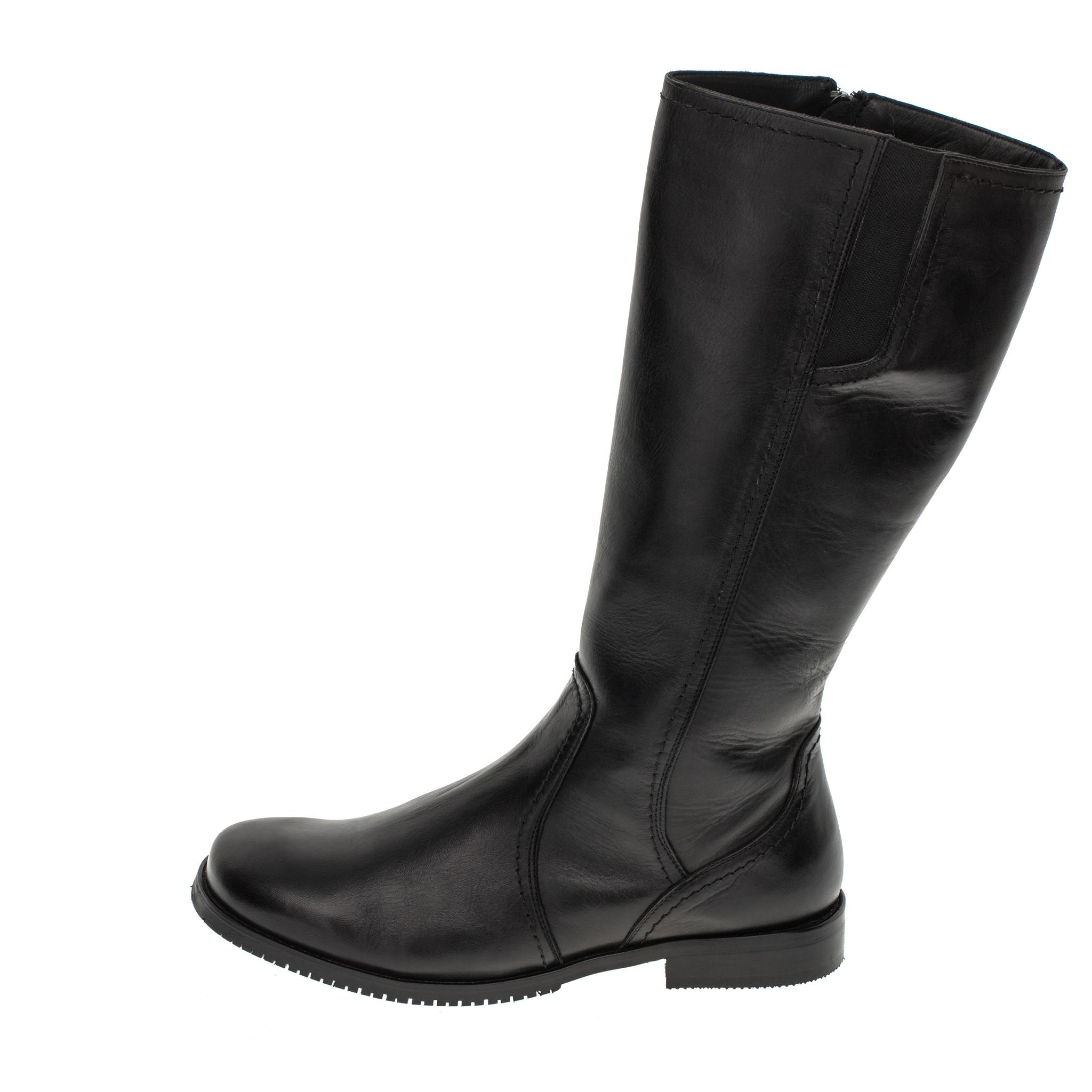 559570 сапоги женские черные больших размеров марки Делфино