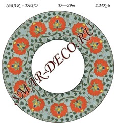 Эскиз для росписи, Зеркало диаметр 29см, SMAR-zmk-6