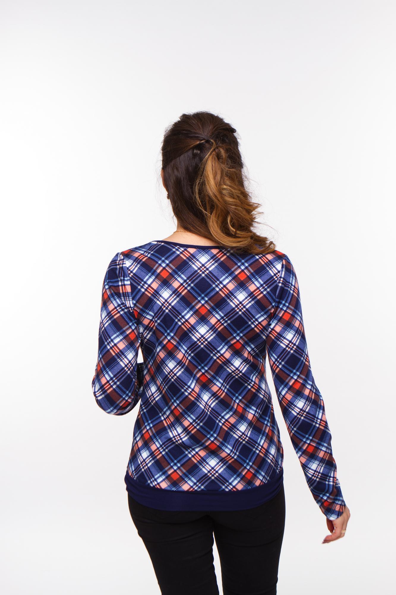 Блузка 08045 синий