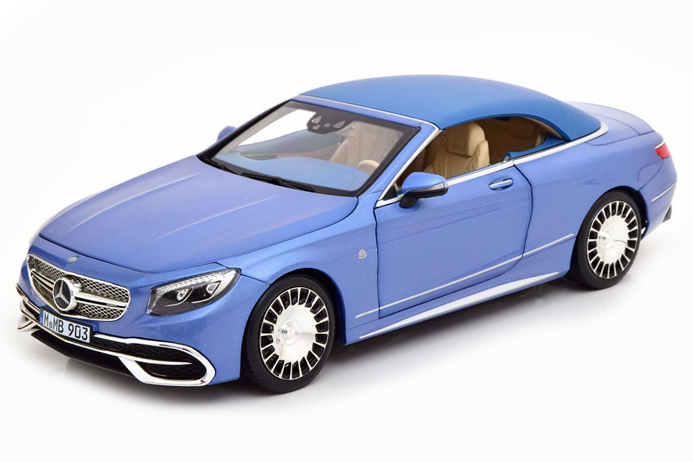 Коллекционная модель MERCEDES-BENZ MAYBACH S650 CABRIO 2019 LIGHT BLUE METALLIC
