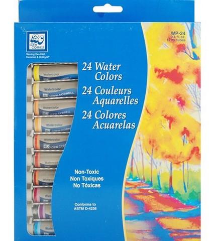 "Акварельная  краска в тюбиках 24 цвета ""Loew cornell"""