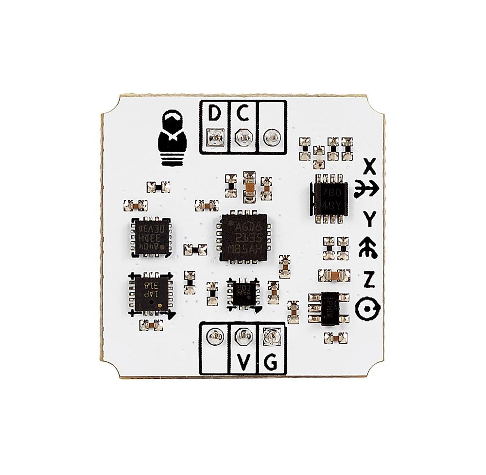 Инерциальный модуль на 10 степеней свободы (IMU-сенсор) - вид сверху