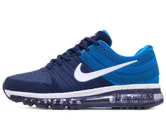 Кроссовки Мужские Nike Air Max 2017 Rubber Double Blue White