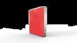 Выключатель пятиканальный Heltun (Красная панель, Серебристая рамка)