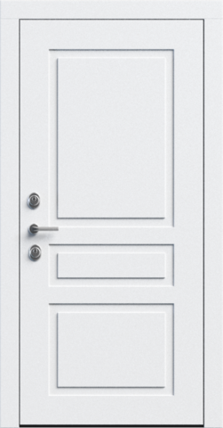 Входная дверь «NEO Classic 3» в цвете, Эмаль белая