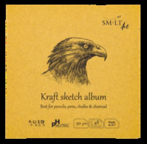 Альбом SM-LT Layflat Kraft 90г/м2 14х14см 48л крафт бумага
