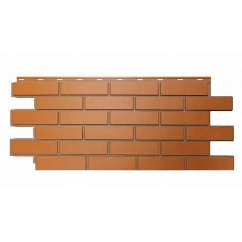 Фасадные панели (Цокольный Сайдинг) Nordside (Нордсайд) Гладкий Кирпич Красный