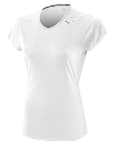 Беговая футболка Mizuno DryLite Core Tee женская белая
