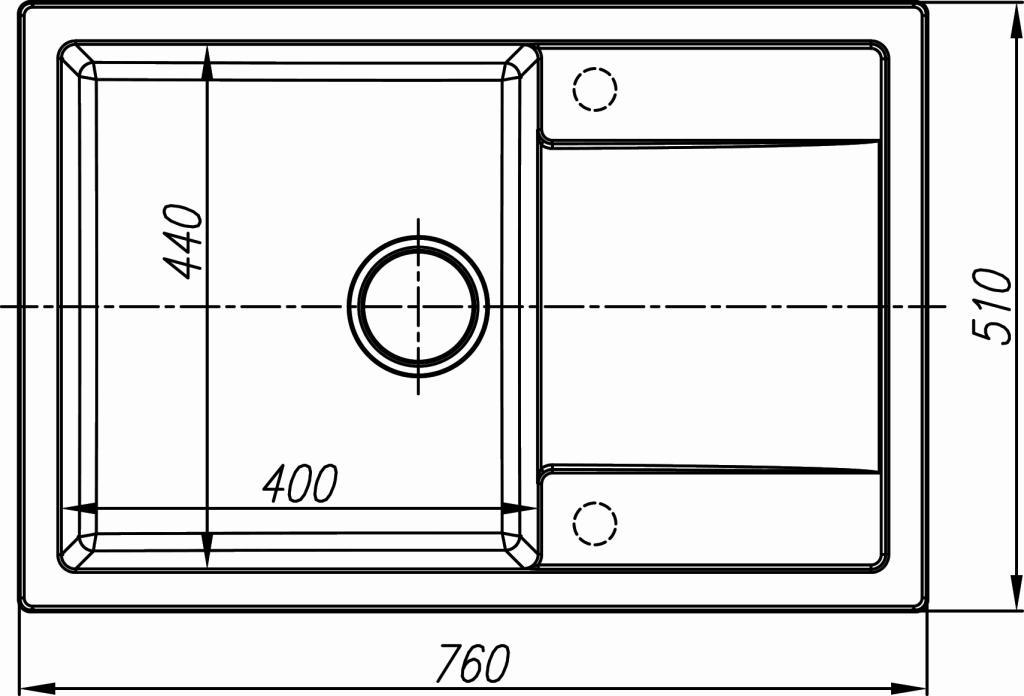 Схема кухонная мойка Dr. Gans Techno 760