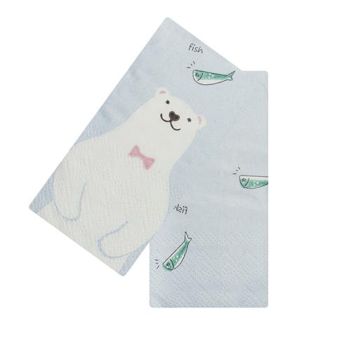 Платочки бумажные Polar bear Fish 2