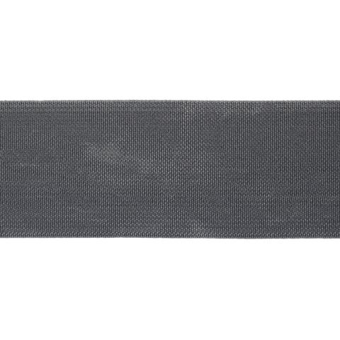 Резинка вязанная 4 см. темно-серая