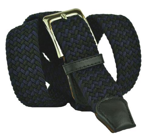 Ремень текстильный чёрно-синий 35Rezinka-105