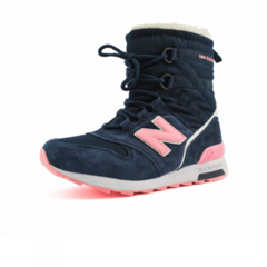 Зимние New Balance Winter Sport Dark Blue/Pink With Fur