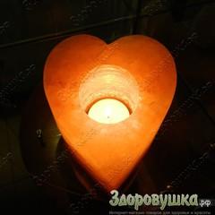 Солевой подсвечник Сердце