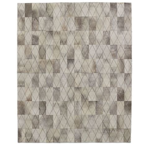 Arlequin Hide Rug - Grey
