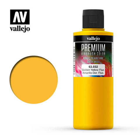 Premium Airbrush Gondel Yellow Fluo 200 ml.