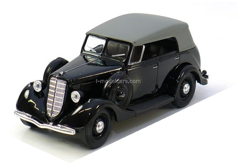 GAZ-M1 Phaeton with awning black 1:43 Nash Avtoprom