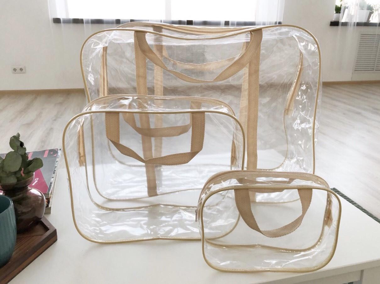 9aae570cec4f Прозрачная сумка в роддом купить без набора | Скоро в роддом