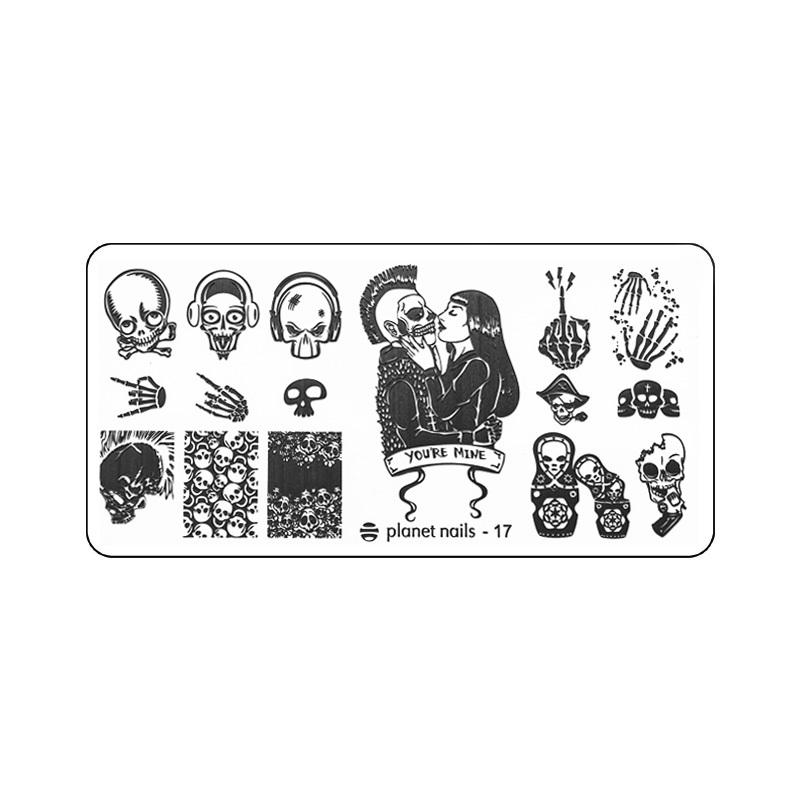 Planet Nails, Пластина для Stamping Nail Art №17