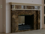 Арт 022 Каминный портал из мрамора Имперадор Дарк и Крема Нова