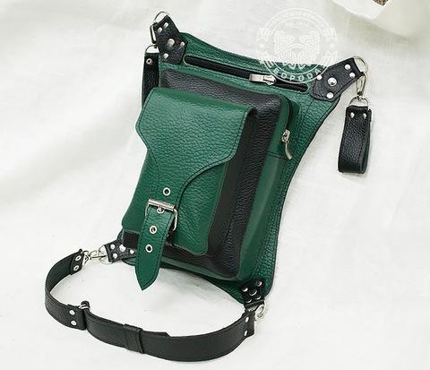 BAG369-2 Набедренная сумка из натуральной кожи ручной работы