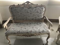 Двухместное кресло 20901 (MK-1301-IV) Слоновая кость с патиной