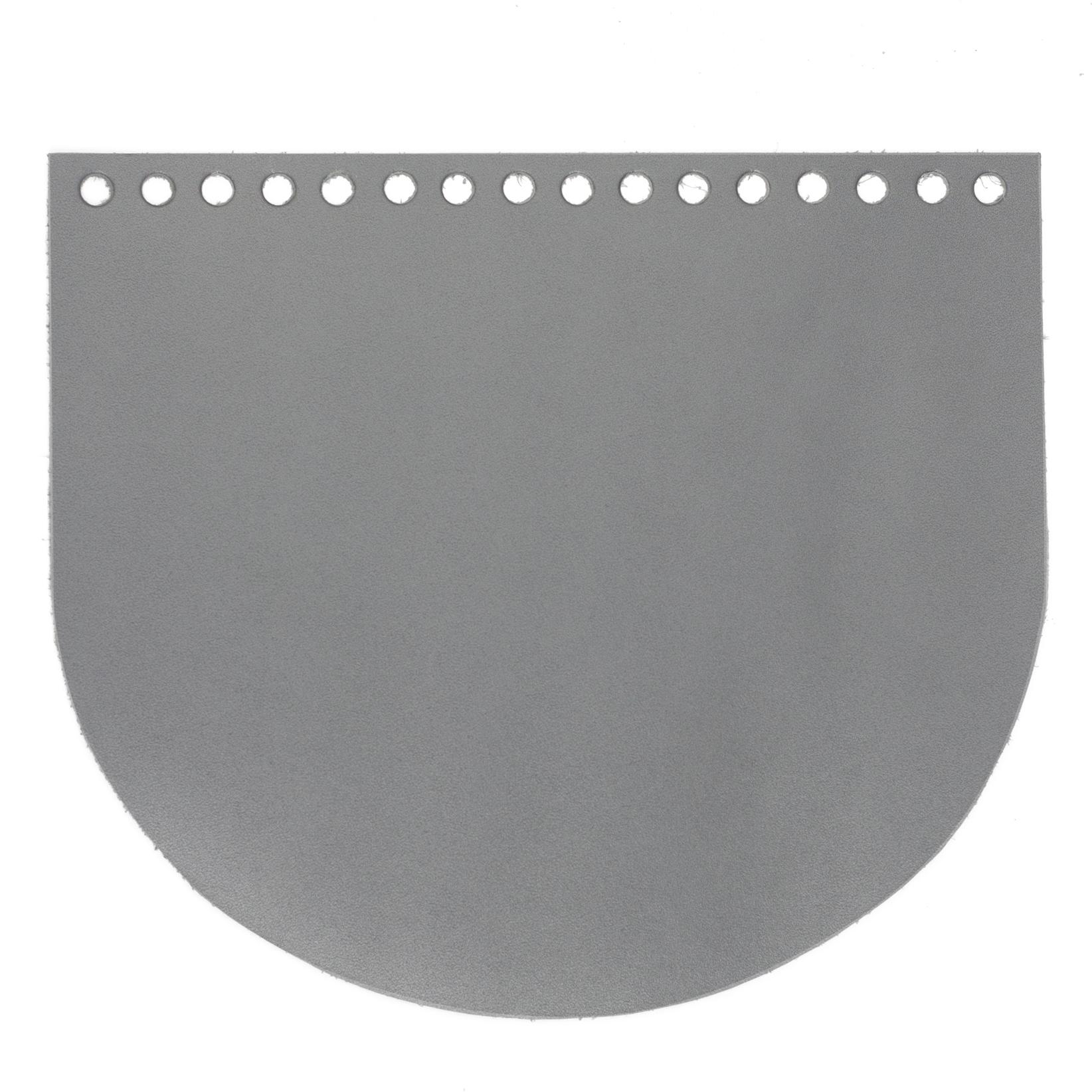 """Вся фурнитура Клапан для сумочки кожаный """"Серый"""" IMG_1992.jpg"""